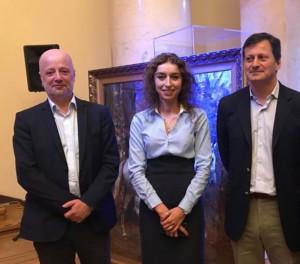 Od lewej: Pierre Branda, Ewa Król-Bednarczyk i Nicolas Walewski - fot. Katarzyna Sztarbała