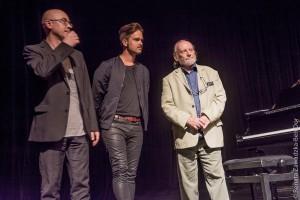Pianiści Marcin Wasilewski, Piotr Orzechowski i Włodzimierz Nahorny - fot. Renata Zawadzka-Ben Dor