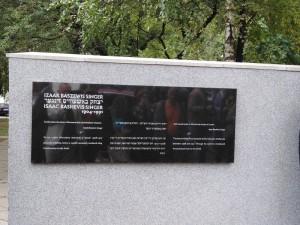 Tablica upamiętniająca Isaaca Singera - fot. Roman Soroczyński
