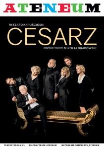 """Plakat spektaklu """"Cesarz"""" - materiał prasowy"""