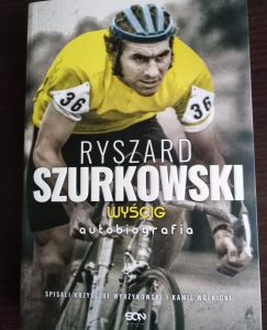 Ryszard Szurkowski. Wyścig - okładka książki/ fot. Roman Soroczyński