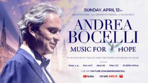 Andrea Bocelli w Mediolanie - plakat