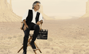 Andrea Bocelli na planie filmowym - fot. MAKROCONCERT