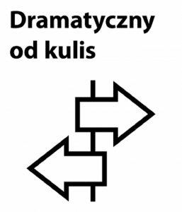 Dramatyczny od kulis - logotyp/ materiał prasowy Teatru Dramatycznego