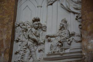 Królowa Jadwiga przepisująca prawa Mistrzowi Krzyżaków w Inowrocławiu w roku 1396 - fot. Jacek Konopka