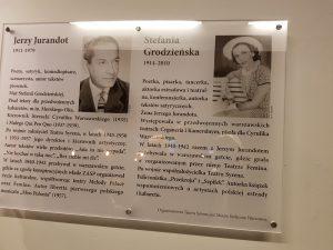 Tablica upamiętniająca założycieli Teatru Syrena - fot. Roman Soroczyński