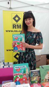 Anna Paczuska na stoisku Wydawnictwa RM/ fot. Archiwum Autorki