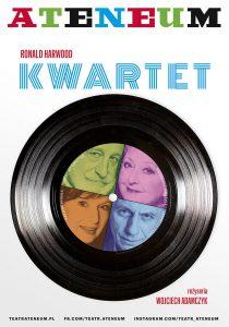 Kwartet - plakat/ materiał Teatru Ateneum